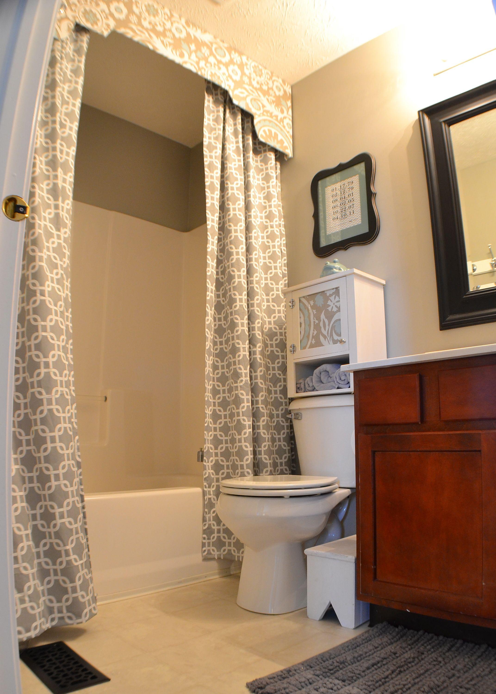 Simple curtain valance - Bathroom Shower Curtains With Valance Shower Curtain With Valance A Fabric Inspired Bathroom Update