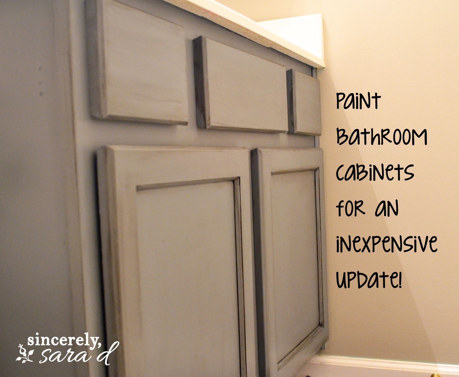 painting bathroom cabinets sincerely sara d