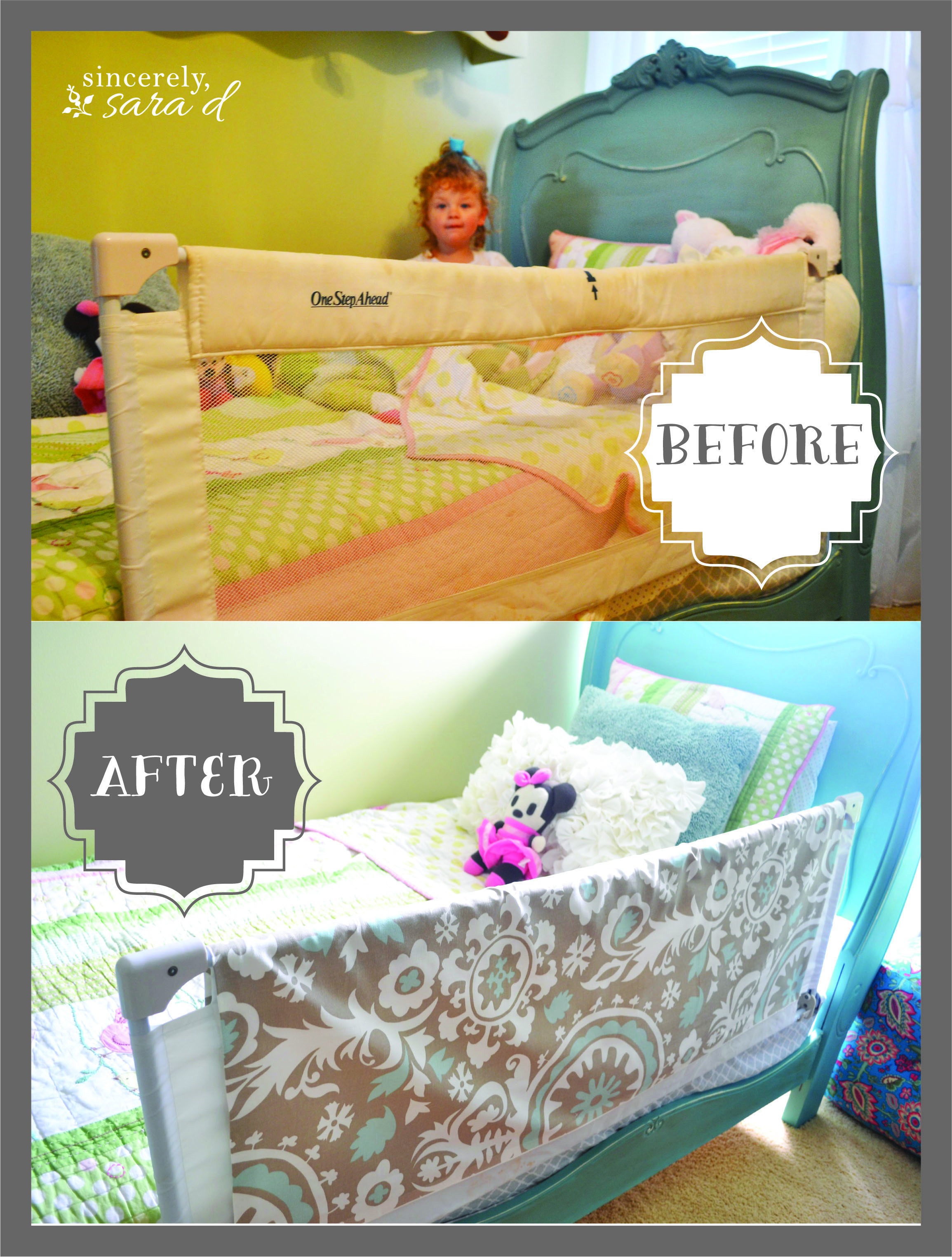 Luckily I Had A Fabric Remnant That Was Large Enough For This Project Basically You Just Need Piece Of To Wrap Around The Bed Rail