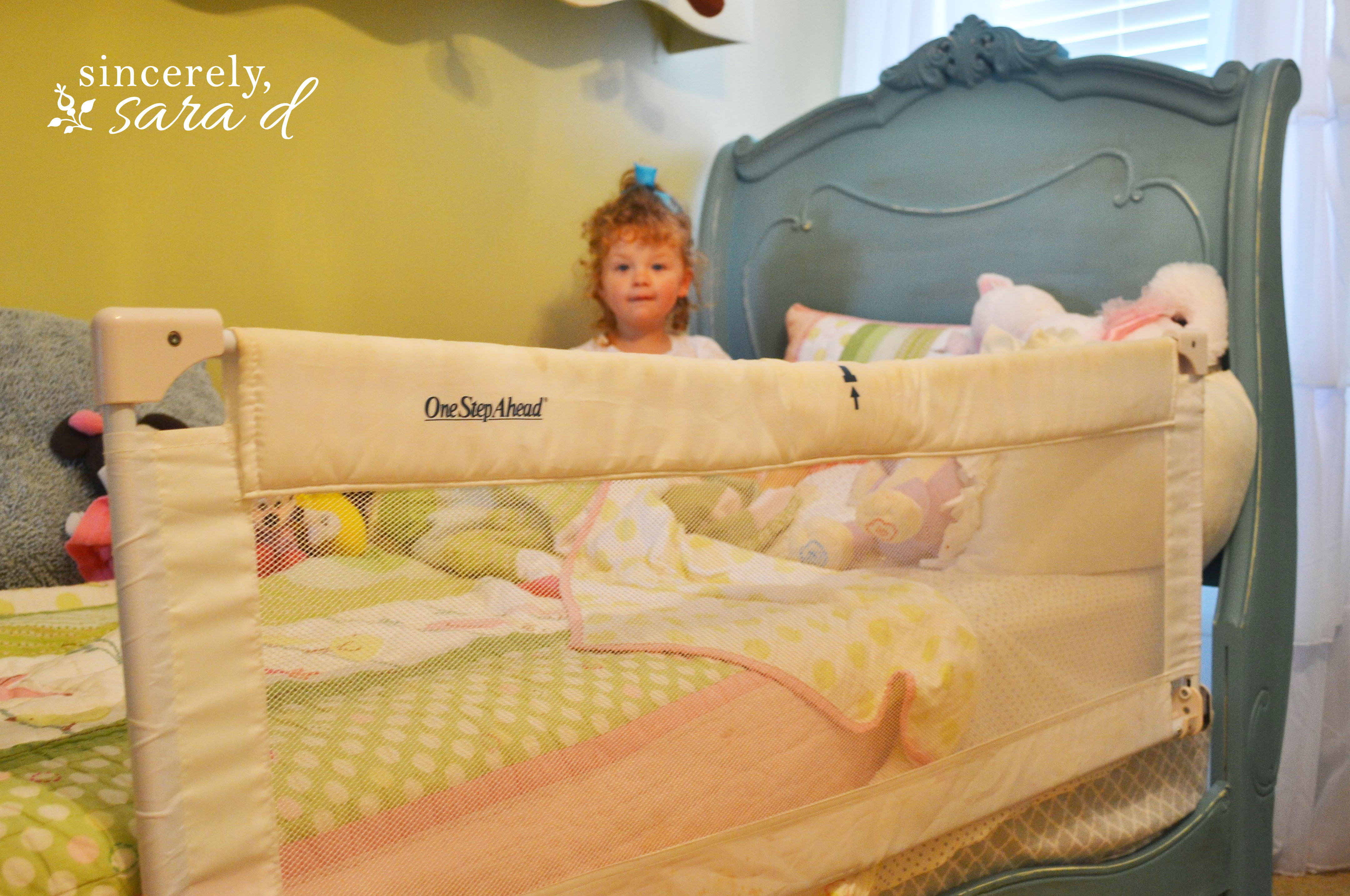 the almost) no sew bed rail cover   Sincerely, Sara D.